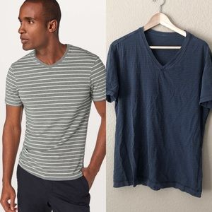 Lululemon Men's 5 year basic men's striped T-shirt